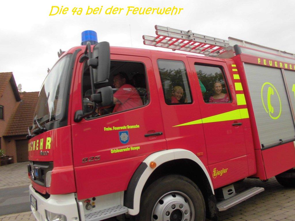die Feuerwehr war da