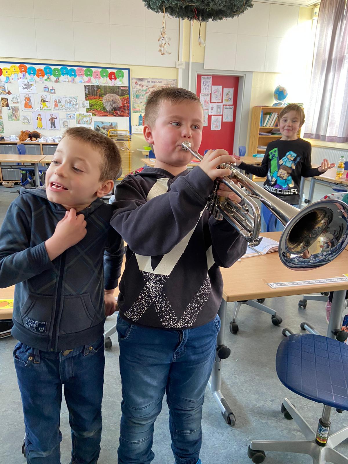 Trompetercorps zu Besuch